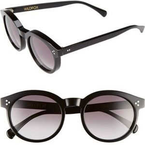 Wildfox Black Harper Acetate Sunglasses NWOT